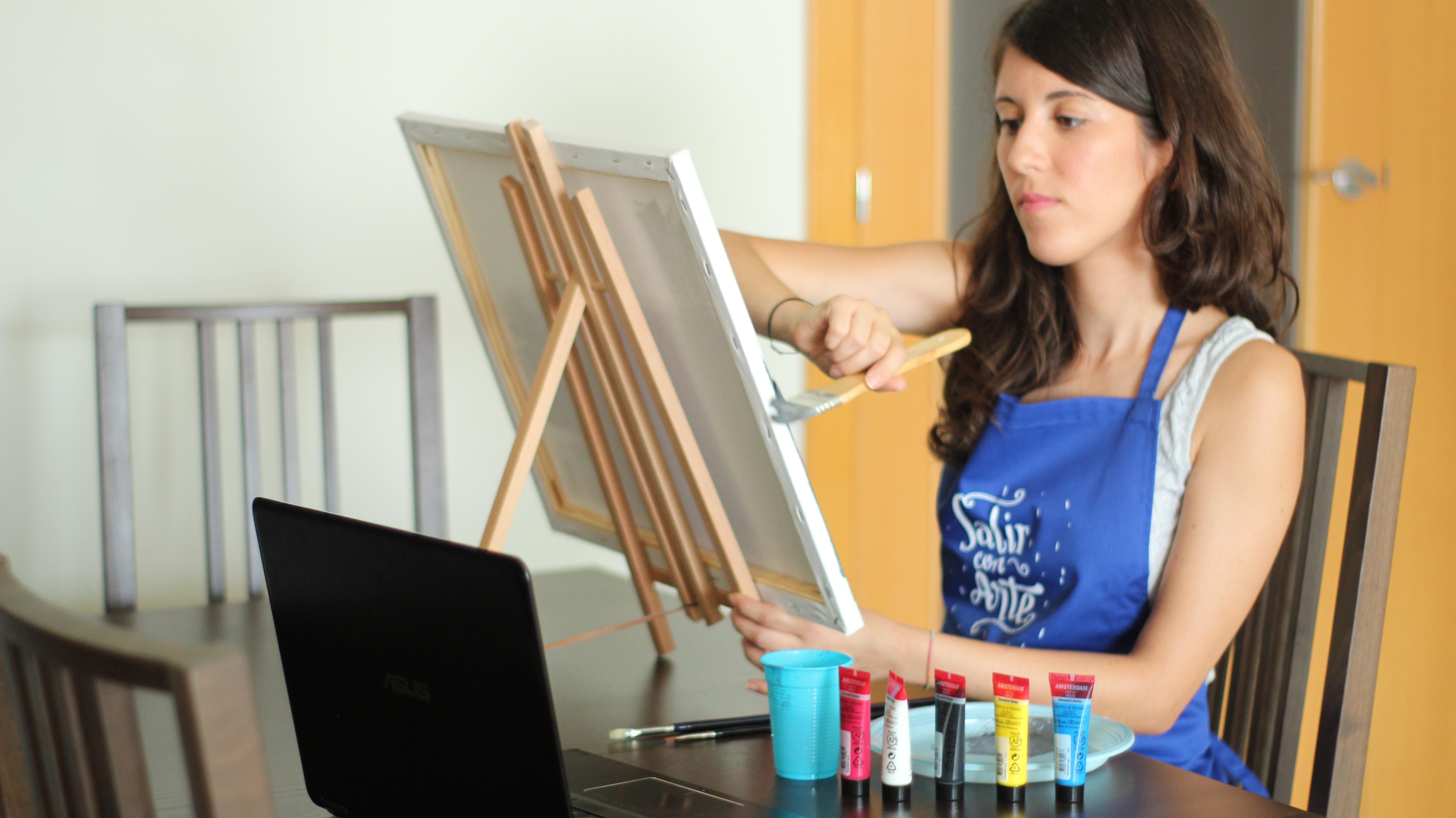 Técnicas de pintura: acrílica, óleo, acuarela ...
