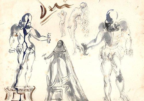 Los primeros dibujos de los grandes pintores de la Historia
