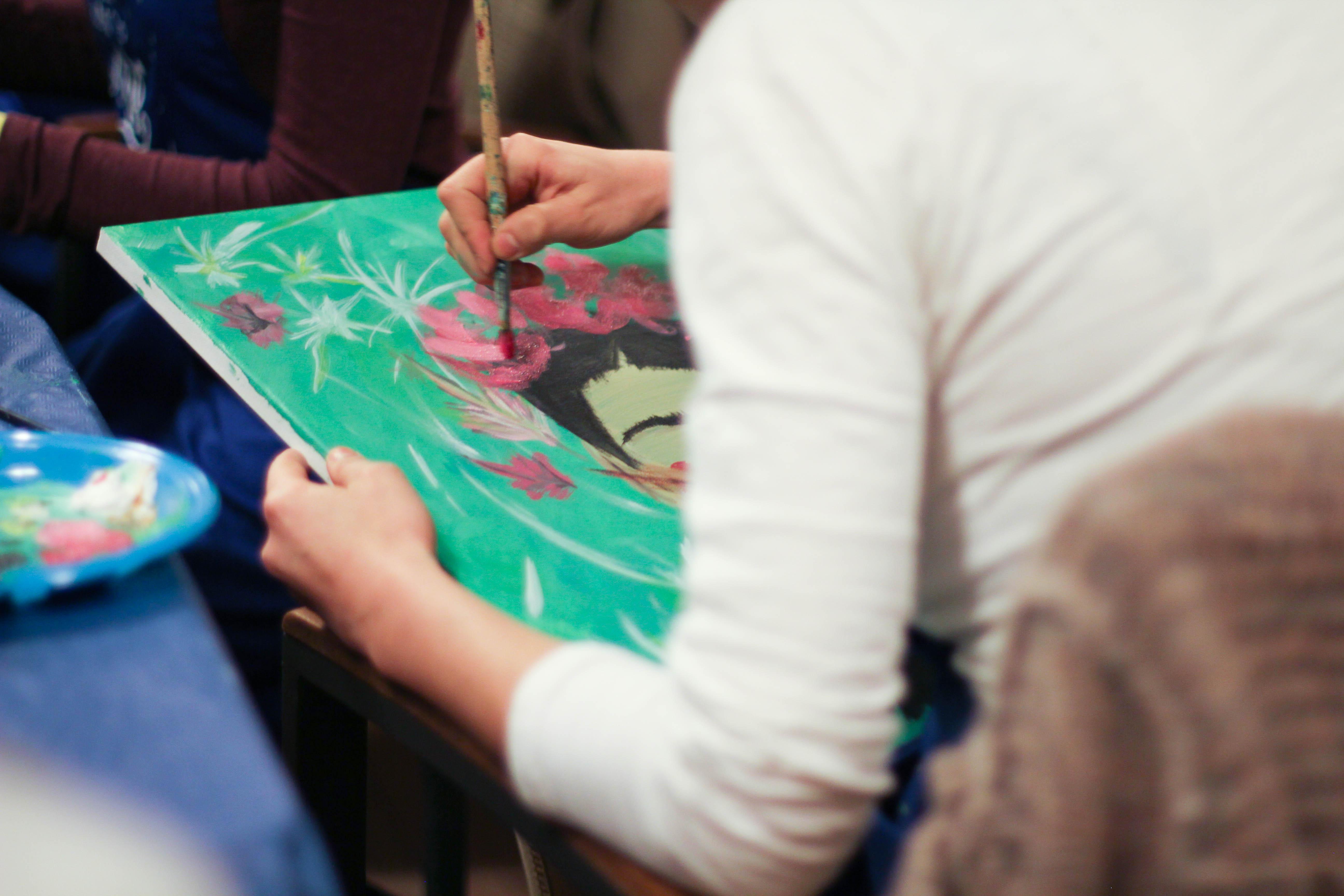 Aprende a pintar con pintura acr lica paso a paso - Tonos de pintura ...