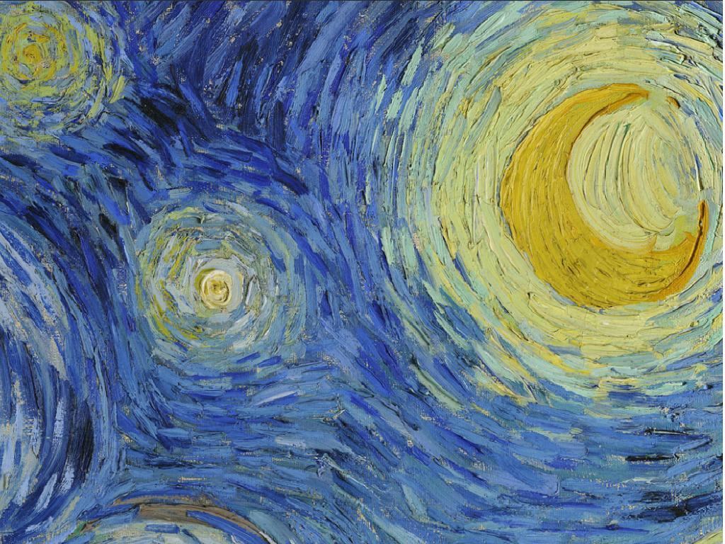 Resultado de imagen de Imágenes de cuadros de noche estrellada
