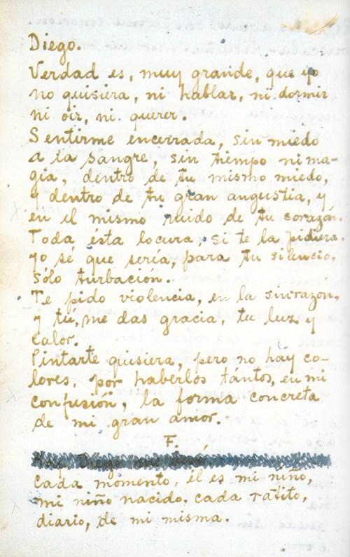 Las Cartas De Amor Escritas A Mano De Frida Kahlo A Diego Rivera
