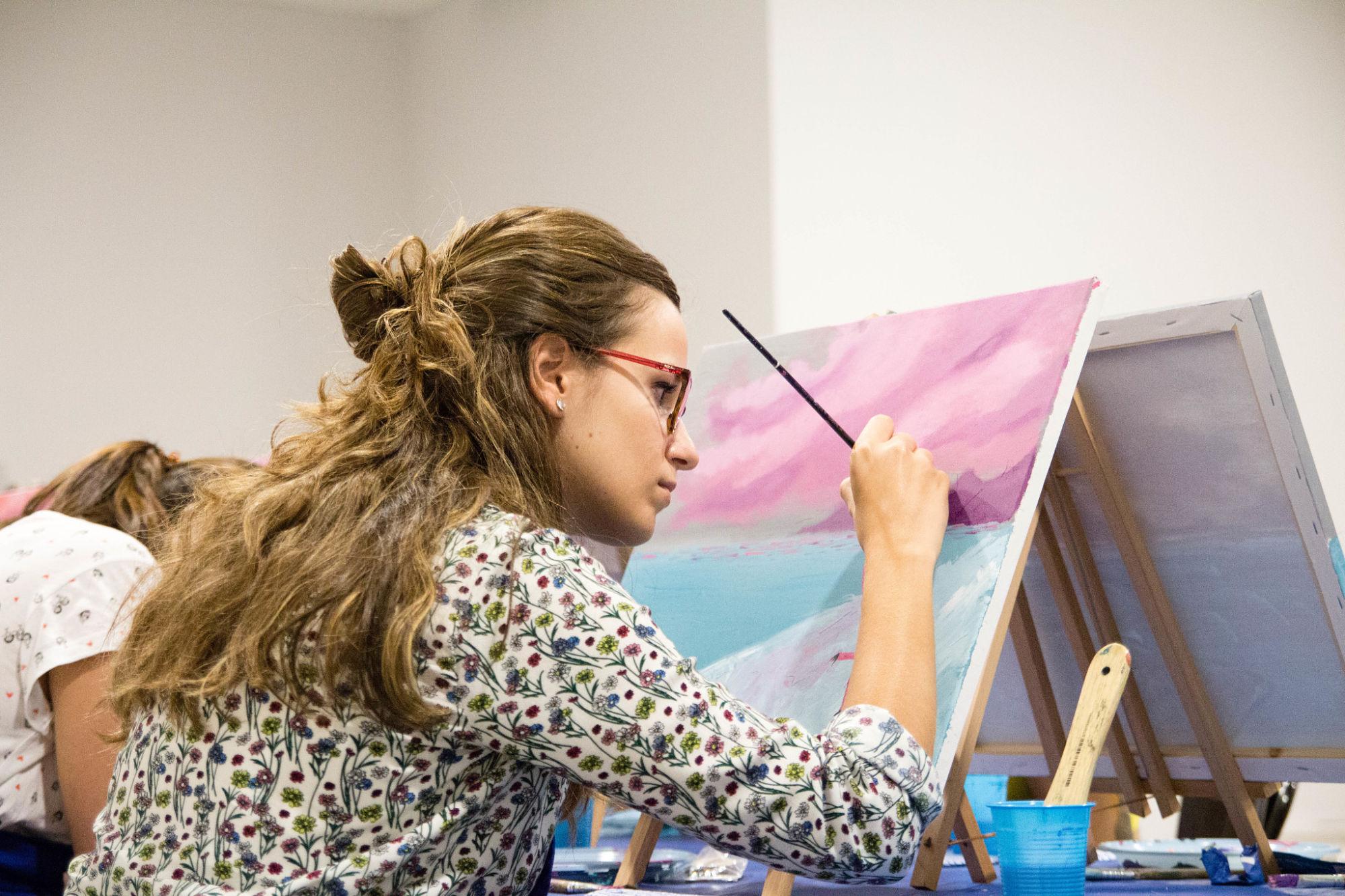 Técnicas de pintura: acrílica, óleo, acuarela